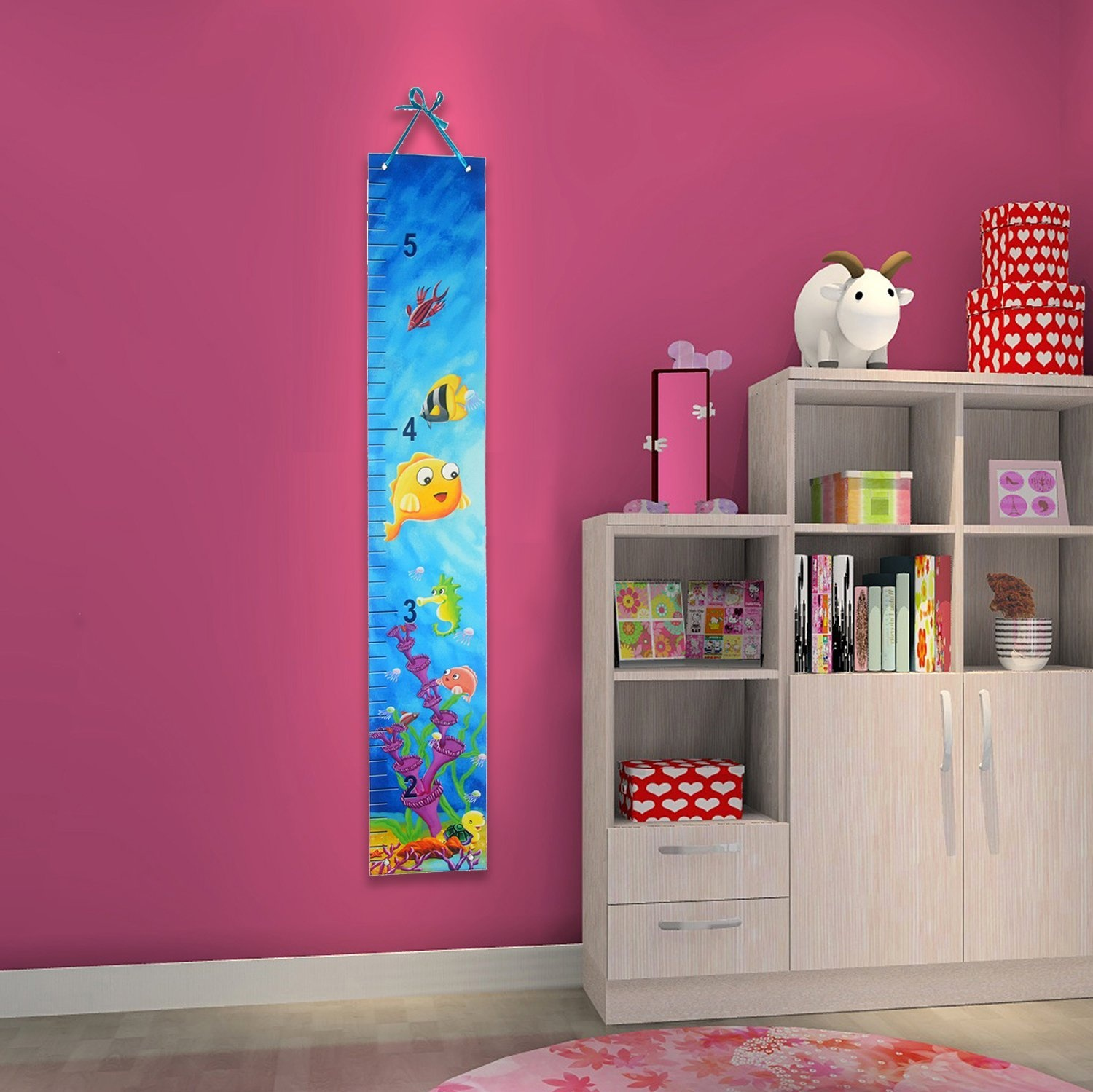 Minnie Mouse Growth Chart Height Measure Kids Baby Bedroom Wall
