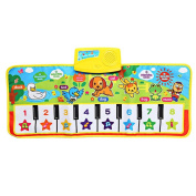 Bobury Children Piano Mat Animal Pattern Baby Touch Play Keyboard Musical Carpet