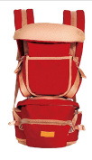 OGTOP Stool Strap Four Seasons Multi-functional Front Brace Baby Strap Baby Lap,Red