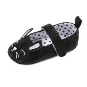 Balai Baby Girls Cute Lucky Meow Smile Princess Shoes Anti-slip PU Casual Shoes