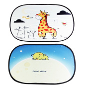 Kakiblin Easy-on & Easy-off Cartoon Sunscreen Insulation Sunshades for Babies and Children,Bon Voyage+Starry Dream