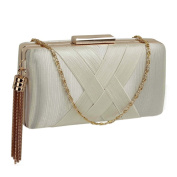 Tassel Clutch Evening Bag with Gold Fame Work Wedding Party