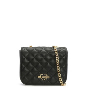 Love Moschino Victoria Black Quilted Cross-Body Bag