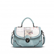 NICOLE & DORIS Elegant Tote Handbag Crossbody Bag Shoulder Bag Women Purse PU Leather Blue