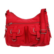 Christian Wippermann® Women's Shoulder Bag red red 32 x 26 x 13 cm