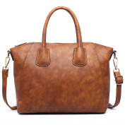 Miss Lulu Fashion Retro Shoulder Bag Tote handles Vintage Elegant women handbag Ladies brown