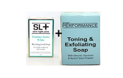 SL+ Extreme Active Skin Bleaching Scrub Soap 200g with Sonik Performance Toning Soap 200g