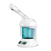 Desktop Hot Mist Facial Steamer Which Can Adjust The Amount Of Fog Warm Mist Face Steamers With Essential Oil Box , green