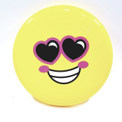 Emoji Flyer Yellow Love In Your Eyes Face Frisbee Flying Disc Toy
