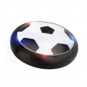 Air Power Suspended Soccer Football Size 4 Toys Training Indoor Outdoor Disc Hover Ball Game with Foam Bumpers and Light Up LED Lights