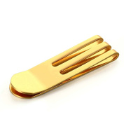 Stainless Steel Money Clip for Men Boy Business Gift Cash Holder High Polished Gold 53MMx15MM Onefeart