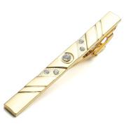 Zysta 1pc Stainless Steel Exquisite GQ Tie Bar Clips, Polished Necktie Clips Tie Pins, Groom Wedding Business Shirt Men's Jewellery, 2.2-5.8cm