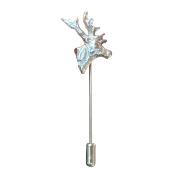 Fine Pewter Cornish Stag Lapel Pin, Handcast By William Sturt