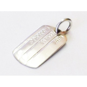 Mens silver dogtag engravable name,address,bloodgroup