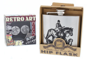 Men's Cufflinks and Hipflask Gift Set Country Scene