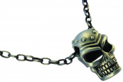 Bico Raw Studded Skull Pendant & Steel Chain Necklace (RF1P11A) - raw style
