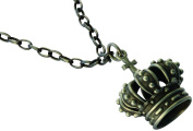 Bico Raw Crown Pendant & Steel Chain Necklace (RF1P18A) - to seek the highest level