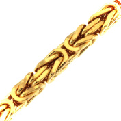 """Byzantine Chain Necklace Gold Doublé 3 mm/0.12"""", Length Choosable Men Women Gift Jewellery From Factory tendenze ITALY"""