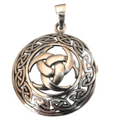 Sterling Silver 925 Horns Of Odin In Celtic Circle Pendant