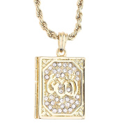 Iced Out Bling Fashion Rope Chain - Allah's Koran gold