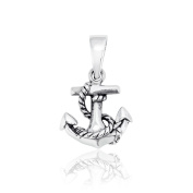 Sistrakno Sterling Silver 925 Pirate Nautical Anchor Rope Ship Sea World Pendant