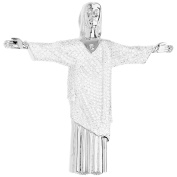 Premium Bling - Sterling Silver Christ the Redeemer Pendant