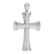 Premium Bling - 925 Sterling Silver Cross Pendant