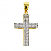 Gold Pendant Cross Pendant Cubic Zirconia 14 Carat Gold Jewellery 2871