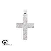Gold Cross Pendant 585 White Gold with Cubic Zirconia Necklace Pendant 14Karat 2476