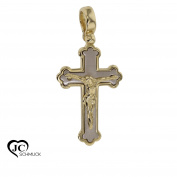 Gold Cross Pendant Necklace Pendant 14 Carat 585 Yellow Gold 3134 V4