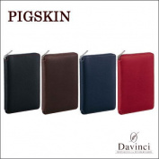 Davinci pigskin da Vinci Grande Bible size system notebook (ring 15mm) round fastener type DB1402