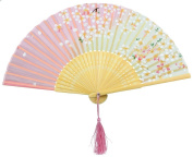 Demarkt Chinese hand hold folding fan paper fan tranditional style bamboo foldable structure for decorative