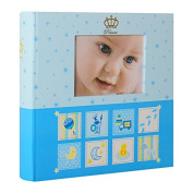 Baby Photo Album with Pockets for 200 Photos 10 x 15 cm Blue
