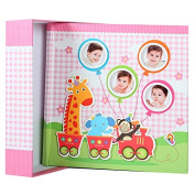 Elegant Baby Giraffe Photo Album for 200 Photos 10 x 15 cm Pink
