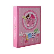 Baby Birth Photo Album for 200 Photos 10 x 15 cm Pink