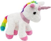 BRUBAKER Plush Unicorn with Glitter 21cm in White / Fantasy-Colours