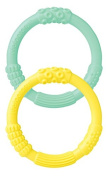 Lifefactory Silicone Teethers, Mint/Banana, Pack of 2