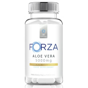 FORZA Aloe Vera - High Strength Aloe Vera Capsules 5000mg - UK Manufactured - Suitable For Vegetarians - 90 Capsules