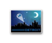 Detroit Lions Poster Sports Art City Skyline Print Mancave Decor 30cm x 41cm