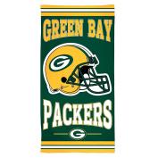 NFL Green Bay Packers Fibre Beach Towel, 80cm x 150cm