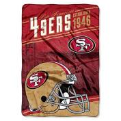 "Northwest San Francisco 49ers NFL ""Stagger"" 160cm x 230cm Oversized Micro Raschel Throw Blanket"