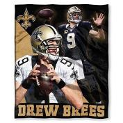 Northwest New Orleans Saints NFL Drew Brees Silk Touch 130cm x 150cm Throw