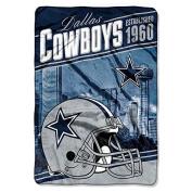 "Northwest Dallas Cowboys NFL ""Stagger"" 160cm x 230cm Oversized Micro Raschel Throw Blanket"