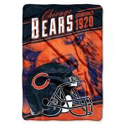 "Northwest Chicago Bears NFL ""Stagger"" 160cm x 230cm Oversized Micro Raschel Throw Blanket"
