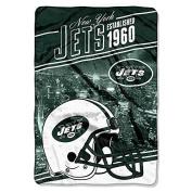 "Northwest New York Jets NFL ""Stagger"" 160cm x 230cm Oversized Micro Raschel Throw Blanket"