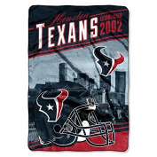"Northwest Houston Texans NFL ""Stagger"" 160cm x 230cm Oversized Micro Raschel Throw Blanket"