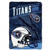 "Northwest Tennessee Titans NFL ""Stagger"" 160cm x 230cm Oversized Micro Raschel Throw Blanket"