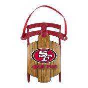 NFL San Francisco 49ers Metal Sled Ornament