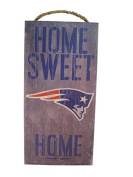 New England Patriots 15cm x 30cm Home Sweet Home Wood Sign
