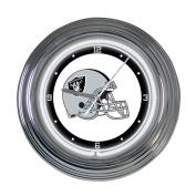 Oakland Raiders 38cm Neon Clock